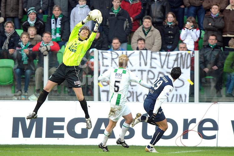 fc groningen - az eredivisie seizoen 2007-2008 17-02-2008.doelman brian van loo redt.fotograaf Jan Kanning *** Local Caption ***