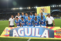 BOGOTA -COLOMBIA, 5-02-2017.Team of Millonarios.Action game beteween  Millonarios  and Independiente Medellin  during match for the date 1 of the Aguila League I 2017 played at Nemesio Camacho El Campin stadium . Photo:VizzorImage / Felipe Caicedo  / Staff