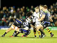 Photo: Richard Lane/Richard Lane Photography. Connacht v Wasps.  European Rugby Champions Cup. 17/12/2016. Wasps' Ashley Johnson attacks.