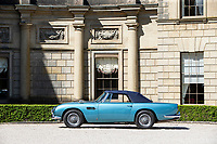 BNPS.co.uk (01202)558833<br /> Pic: Bonhams/BNPS<br /> <br /> A vintage Aston Martin DB5 convertible car that was once owned by comedy actor Peter Sellers and then Princess Margaret's husband has emerged for sale for £1.7m.<br /> <br /> The 'regal runaround' was bought from new by the Pink Panther star at the height of his fame in 1964.<br /> <br /> Sellers owned it for several years before being persuaded to sell the pearl blue motor to his friend Lord Snowdon.