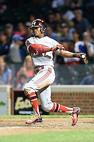 Kyler Murray (7) of Allen High School in Allen, Texas during the Under Armour All-American Game on August 16, 2014 at Wrigley Field in Chicago, Illinois.  (Mike Janes/Four Seam Images)