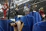 "May 3, 2010 - Tokyo, Japan - PVC Figurines are on display during the Treasure Festa 2010 at Tokyo Big Sight, Japan, on May 4, 2010. Some visitors and hobbyists concentrate specifically on a certain type of figure, such as garage kits, gashapon, or PVC bishojo (pretty girl) statues. According to many who study the phenomenon, many 'figure moe zoku', a Japanese term which refers to ""Otaku who collect figurines"", have difficulty in navigating modern romantic life and prefer to go on ""dates"" with their favorite figurine during off hours."