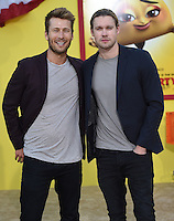 Chord Overstreet + Glen Powell @ the premiere of 'Sausage Party' held @ the Regency Village theatre.<br /> August 9, 2016