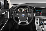 Steering wheel view of a 2013 Volvo XC60