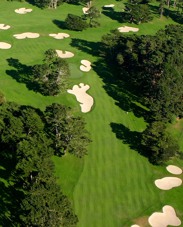 October 16, 2005; San Francisco, CA, USA; Aerial view of Harding Park Golf Course in San Francisco, CA. Photo by: Phillip Carter