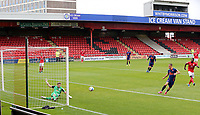 Crewe Alexandra's Will Jaaskelainen with a goal line clearance<br /> <br /> Photographer Rich Linley/CameraSport<br /> <br /> The EFL Sky Bet League One - Crewe Alexandra v Blackpool - Saturday 17th October 2020 - Gresty Road - Crewe<br /> <br /> World Copyright © 2020 CameraSport. All rights reserved. 43 Linden Ave. Countesthorpe. Leicester. England. LE8 5PG - Tel: +44 (0) 116 277 4147 - admin@camerasport.com - www.camerasport.com