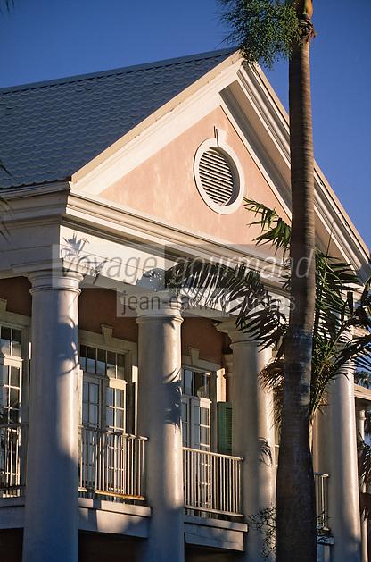 Iles Bahamas / New Providence et Paradise Island / Nassau: le siège du Parlement sur Parliament Square