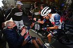 Jasper Stuyven (BEL) Trek-Segafredo wins the 112th edition of Milan-San Remo 2021, running 299km from Milan to San Remo, Italy. 20th March 2021.<br /> Photo: LaPresse/Dario Belinghieri | Cyclefile<br /> <br /> All photos usage must carry mandatory copyright credit (© Cyclefile | LaPresse/Dario Belinghieri)