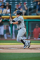 Ty France (25) of the El Paso Chihuahuas bats against the Salt Lake Bees at Smith's Ballpark on August 14, 2018 in Salt Lake City, Utah. El Paso defeated Salt Lake 6-3. (Stephen Smith/Four Seam Images)