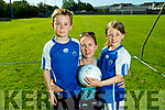 Conor and Harriet Ryan with their mom Lisa Ryan from Fairway Heights ready to play ball at the Kerins O'Rahilly Cul Camp on Monday.