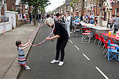 Royal Wedding street party in Kilravock Street, Queen's Park, West London.