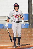 Danville Braves Jason Mowry at Howard Johnson Field in Johnson City, Tennessee July 6, 2010.   Johnson City won the game 6-5.  Photo By Tony Farlow/Four Seam Images