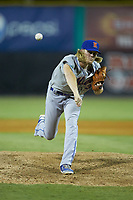 Kingsport Mets relief pitcher Christian Tripp (32) delivers a pitch to the plate against the Burlington Royals at Burlington Athletic Stadium on July 27, 2018 in Burlington, North Carolina. The Mets defeated the Royals 8-0.  (Brian Westerholt/Four Seam Images)
