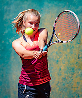 Hilversum, Netherlands, August 6, 2018, National Junior Championships, NJK, Claire van Buuren (NED)<br /> Photo: Tennisimages/Henk Koster