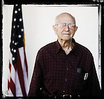 Veteran Floyd Metts poses for a photo at a Veterans Day Program at the Oxford Conference Center in Oxford, Miss. on Thursday, November 11, 2010.