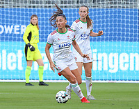 Amber Tysiak (3) of OHL in action during a female soccer game between Oud Heverlee Leuven and Standard Femina de Liege on the third matchday of the 2021 - 2022 season of Belgian Womens Super League , Sunday 5 th of September 2021  in Leuven , Belgium . PHOTO SPORTPIX.BE | SEVIL OKTEM