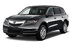 2014-2016 Acura MDX Technology 5 Door SUV angular front stock photos of front three quarter view