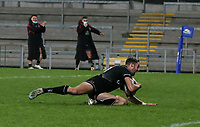 12 December 2020; Aaron Sexton scores the winning try for Ulsterduring the A series inter-pros series 20-21 between Ulster A and Munster A at Kingspan Stadium, Ravenhill Park, Belfast, Northern Ireland. Photo by John Dickson/Dicksondigital