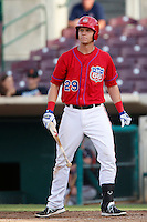 Michael Snyder #29 of the Inland Empire 66'ers bats against the Lake Elsinore Storm at San Manuel Stadium on June 23, 2013 in San Bernardino, California. Lake Elsinore defeated Inland Empire, 6-2. (Larry Goren/Four Seam Images)