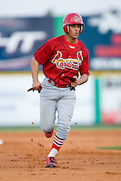 Johnson City left fielder Joseph Hage (23) hustles into third base versus Burlington at Burlington Athletic Park in Burlington, NC, Saturday, August 25, 2007.