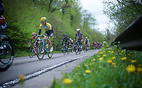 peloton down towards the first climb of the day<br /> <br /> 101th Liège-Bastogne-Liège 2015