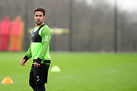 Wayne Routledge of Swansea City during the Swansea City Training at The Fairwood Training Ground in Swansea, Wales, UK.  Wednesday 08 January 2020