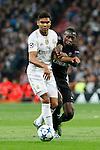 Real Madrid´s Casemiro (L) and Paris Saint-Germain´s Blaise Matuidi during Champions League soccer match between Real Madrid  and Paris Saint Germain at Santiago Bernabeu stadium in Madrid, Spain. November 03, 2015. (ALTERPHOTOS/Victor Blanco)