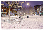 """Print two of a four part series entitled: """"Winter on the Square"""".  Please see the """"Fine Art 