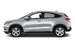 Driver side profile view of a 2016 Honda HRV EX