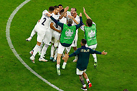 Players of Italy celebrate the victory at the end of the Uefa Euro 2020 round of 8 football match between Belgium and Italy at football arena in Munich (Germany), July 2nd, 2021. Photo Matteo Ciambelli / Insidefoto