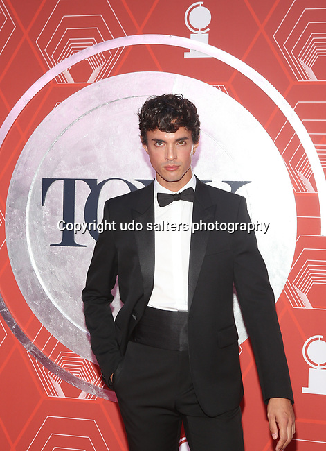 James Cusati-Moyer attends the 74th Tony Awards-Broadway's Back! arrivals at the Winter Garden Theatre in New York, NY, on September 26, 2021. (Photo by Udo Salters/Sipa USA)