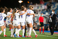 31st August 2021; Estadio Afredo Di Stefano, Madrid, Spain; Women's Champions League, Real Madrid CF versus Manchester City Football Club; Kenti Robles (Real Madrid) celebrating the 1-1 goal scored in the last minute