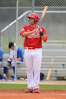 GCL Cardinals first baseman Jake Stone (26) during the first game of a double header against the GCL Mets on July 17, 2013 at Roger Dean Complex in Jupiter, Florida.  GCL Cardinals defeated the GCL Mets 6-5 in twelve innings.  (Mike Janes/Four Seam Images)