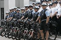 Photo d'archive de la police de Montreal -<br /> Policiers a velo<br /> <br /> PHOTO :  AGENCE QUEBEC PRESSE