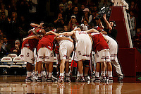 29 January 2006: Matt Haryasz and Dan Grunfeld during Stanford's 76-67 overtime win over the #9 Washington Huskies at Maples Pavilion in Stanford, CA.