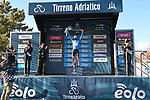 Tadej Pogacar (SLO) UAE Team Emirates wins Stage 4 and takes over the race leaders Maglia Azzurra of Tirreno-Adriatico Eolo 2021, running 148km from Terni to Prati di Tivo, Italy. 13th March 2021. <br /> Photo: LaPresse/Gian Mattia D'Alberto | Cyclefile<br /> <br /> All photos usage must carry mandatory copyright credit (© Cyclefile | LaPresse/Gian Mattia D'Alberto)