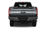 Straight rear view of 2017 Ford F-350 XLT-Crew 4 Door Pickup Rear View  stock images
