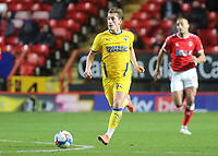AFC Wimbledon's Alex Woodyard races upfield during Charlton Athletic vs AFC Wimbledon, Sky Bet EFL League 1 Football at The Valley on 12th December 2020