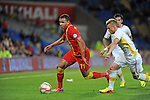 FIFA 2014 World Cup Qualifying Match - Wales v Macedonia at the Cardiff City Stadium :  Hal Robson Kanu takes control for Wales.