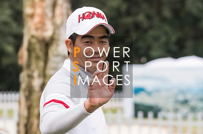 Wenchong Liang of China reacts during the day four of UBS Hong Kong Open 2017 at the Hong Kong Golf Club on 26 November 2017, in Hong Kong, Hong Kong. Photo by Yu Chun Christopher Wong / Power Sport Images