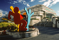 San Francisco, California, USA. Sculpture in front of Moscone Center, Esplanade Ballroom. Photographed February 2003.