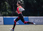 Zhaoxue Zhai of China runs in a try during the Asia Rugby U20 Sevens 2017 at King's Park Sports Ground on August 5, 2017 in Hong Kong, China. Photo by Yu Chun Christopher Wong / Power Sport Images