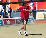 Wales Marc Wyatt in action during the Mens Pairs <br /> <br /> *This image must be credited to Ian Cook Sportingwales and can only be used in conjunction with this event only*<br /> <br /> 21st Commonwealth Games - Final Mens Pairs Wales v Scotland, Bowls -  Day 5 - 09\04\2018 - Boardbeach Bowls Club - Gold Coast City - Australia