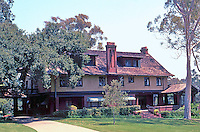"Irving Gill: George Marston House, 1904-05. 3525 7th Ave. Arts & Crafts style. Was to be half-timbered but ""drastically simplified."" Photo 2000."
