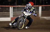 Mikkel Bech of Lakeside Hammers - Lakeside Hammers vs Leicester Lions, Elite League Speedway at the Arena Essex Raceway, Pufleet - 04/04/14 - MANDATORY CREDIT: Rob Newell/TGSPHOTO - Self billing applies where appropriate - 0845 094 6026 - contact@tgsphoto.co.uk - NO UNPAID USE