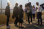 DUBAI,UNITED ARAB EMIRATES-MARCH 23: Bob Baffert,trains Arrogate (Dubai World Cup) and Florent Geroux ,rides Gun Runner (Dubai World Cup) are interviewed at Meydan Racecourse on March 23,2017 in Dubai,United Arab Emirates (Photo by Kaz Ishida/Eclipse Sportswire/Getty Images)