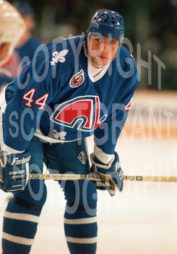 Aaron Miller Quebec Nordiques 1993. Photo copyright F. Scott Grant