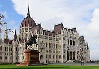 Parlament, Országház, am Kossuth Lajos tér in Budapest, Ungarn, UNESCO-Weltkulturerbe