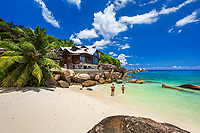 Seychelles, Holiday Home of the Villas Chez Batista on Anse Takamaka, West Coast, Island of Mahe, Seychelles