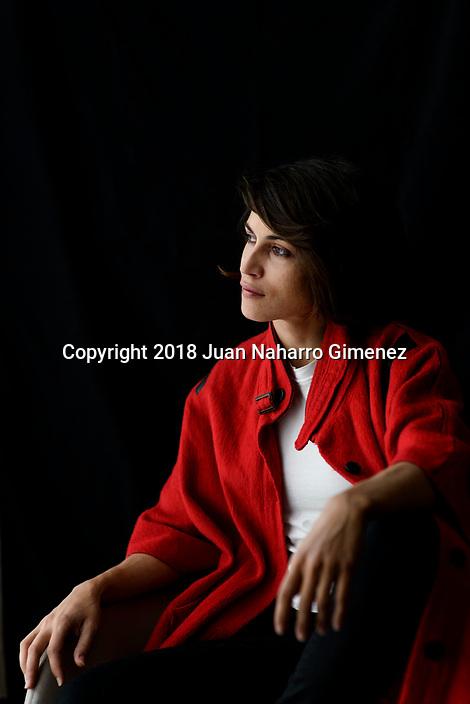 Nerea Barros poses during a portrait session.